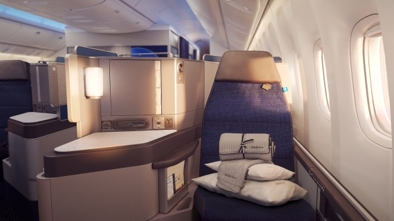 Neuer United Polaris Business Class Sitz